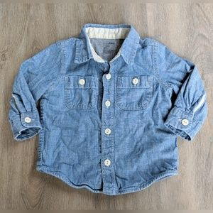 Baby Gap | denim button down | 12-18 months